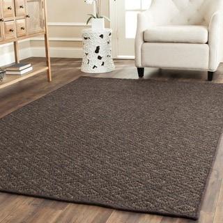 Diamonds Brown Sisal Wool Rug (4' x 6')