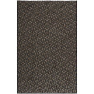 Diamonds Brown Sisal Wool Rug (5' x 8')