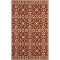 Safavieh Four Seasons Stain Resistant Hand-hooked Red Rug (3'6 x 5'6)