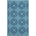 Latex Safavieh Four Seasons Stain Resistant Hand-Hooked Blue Rug (5' x 8')