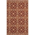 Safavieh Four Seasons Stain Resistant Hand-hooked Red Rug (8' x 10')