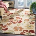 Safavieh Four Seasons Stain Resistant Hand-hooked Beige Rug (3&#39;6 x 5&#39;6)