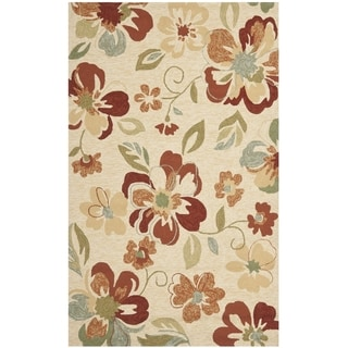 Safavieh Four Seasons Stain Resistant Hand-hooked Beige Rug (5' x 8')