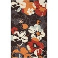 Safavieh Four Seasons Stain Resistant Hand-hooked Black Rug (5&#39; x 8&#39;)