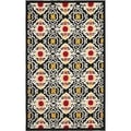 Safavieh Four Seasons Stain Resistant Hand-hooked Black Rug (3'6 x 5'6)