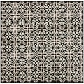 Safavieh Four Seasons Stain Resistant Hand-hooked Black Rug (6' Square)