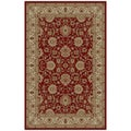 Oriental Ankara Collection Mahal Red Area Rug (2&#39;7 x 4&#39;2)