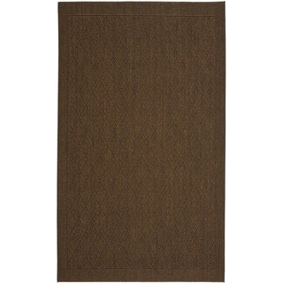 Palm Beach Chocolate Brown Sisal Rug (5' x 8')