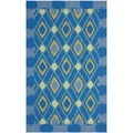 Safavieh Four Seasons Stain Resistant Hand-hooked Indigo Rug (5' x 8')