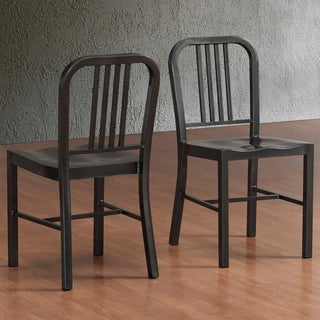Charcoal Metal Side Chairs (Set of 2)