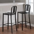 Charcoal Metal Bar Stools (Set of 2)