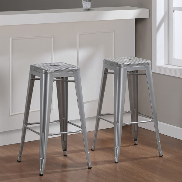 Tabouret 30-inch Perforated Steel Barstools (Set of 2)