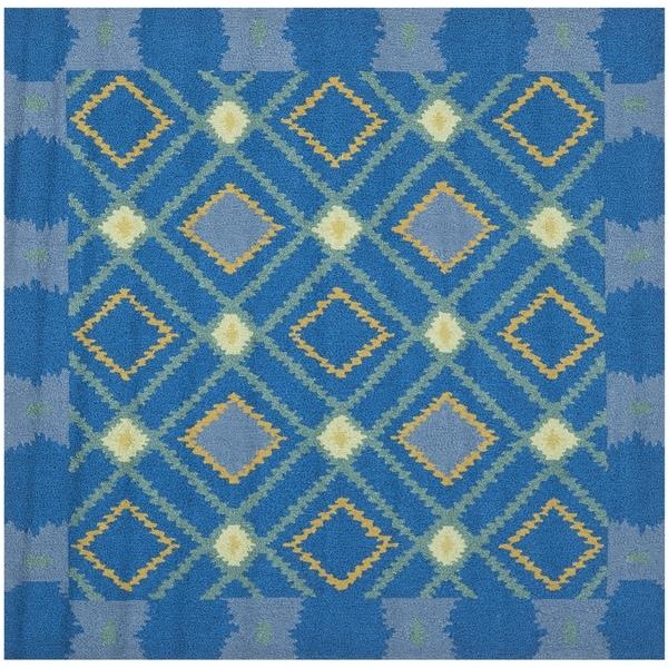 Safavieh Four Seasons Stain Resistant Hand-hooked Indigo Rug (6' Square)