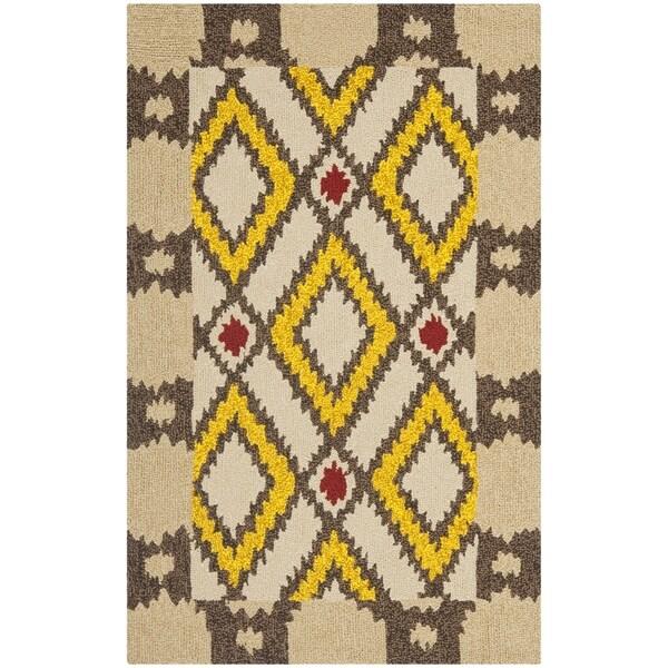 Safavieh Four Seasons Stain Resistant Hand-hooked Beige Rug (2'6 x 4')