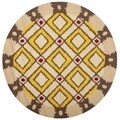 Safavieh Four Seasons Stain Resistant Hand-hooked Beige Rug (4' Round)
