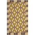 Safavieh Four Seasons Stain-Resistant Hand-Hooked Country Beige Rug (5' x 8')