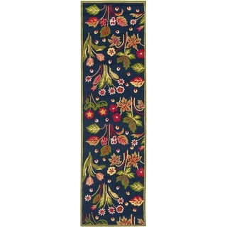 Safavieh Four Seasons Stain Resistant Hand-hooked Navy Rug (2'3 x 8')