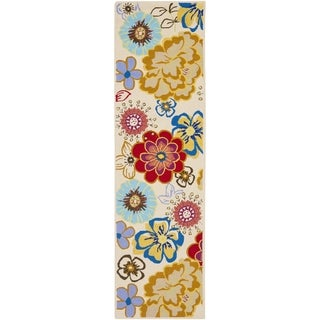 Safavieh Four Seasons Stain Resistant Hand-hooked Ivory Rug (2' x 6')