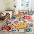 Safavieh Four Seasons Stain Resistant Hand-hooked Ivory Rug (5' x 8')