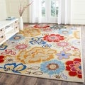 Safavieh Four Seasons Stain Resistant Hand-hooked Ivory Rug (8&#39; x 10&#39;)
