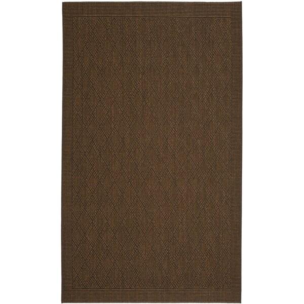 Safavieh Palm Beach Chocolate Brown Sisal Rug (3' x 5')