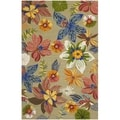 Safavieh Four Seasons Stain Resistant Hand-hooked Light Olive Rug (3'6 x 5'6)