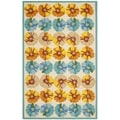 Safavieh Four Seasons Stain Resistant Hand-Hooked Ivory/Blue/Orange Rug (5' x 8')