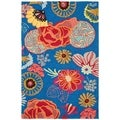 Safavieh Four Seasons Stain Resistant Hand-hooked Blue Rug (3'6 x 5'6)