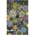 Safavieh Four Seasons Stain Resistant Hand-hooked Grey Rug (5' x 8')