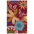 Safavieh Four Seasons Stain Resistant Hand-hooked Red Rug (2'6 x 4')