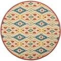 Safavieh Four Seasons Stain Resistant Hand-hooked Natural Rug (4' Round)