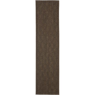 Palm Beach Chocolate Brown Sisal Rug (2' x 8')