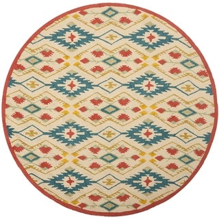 Safavieh Four Seasons Stain Resistant Hand-hooked Natural Rug (6' Round)
