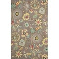 Safavieh Four Seasons Stain Resistant Hand-hooked Floral Brown Rug (3'6 x 5'6)