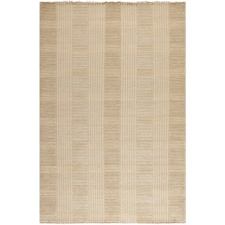 Safavieh Hand-knotted Tibetan Squares Beige Wool Rug (8' x 10')