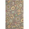 Safavieh Four Seasons Stain Resistant Hand-hooked Brown Rug (5' x 8')