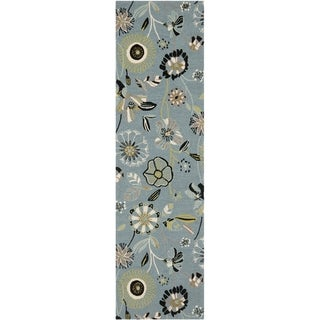 Safavieh Four Seasons Stain-resistant Hand-hooked Blue Runner Rug (2'3 x 8')