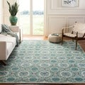 Safavieh Four Seasons Stain Resistant Hand-hooked Mint Green Rug (2'3 x 8')
