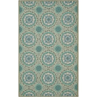 Safavieh Four Seasons Stain Resistant Hand-hooked Mint Green Rug (5' x 8')