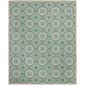 Safavieh Four Seasons Stain Resistant Hand-hooked Mint Green Rug (8' x 10')