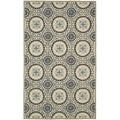 "Safavieh Four Seasons Stain-Resistant Hand-Hooked Country Gray Rug (3'6"" x 5'6"")"
