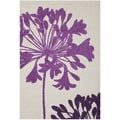 Purple Flower Safavieh Porcello Ivory Rug (4' x 5' 7)