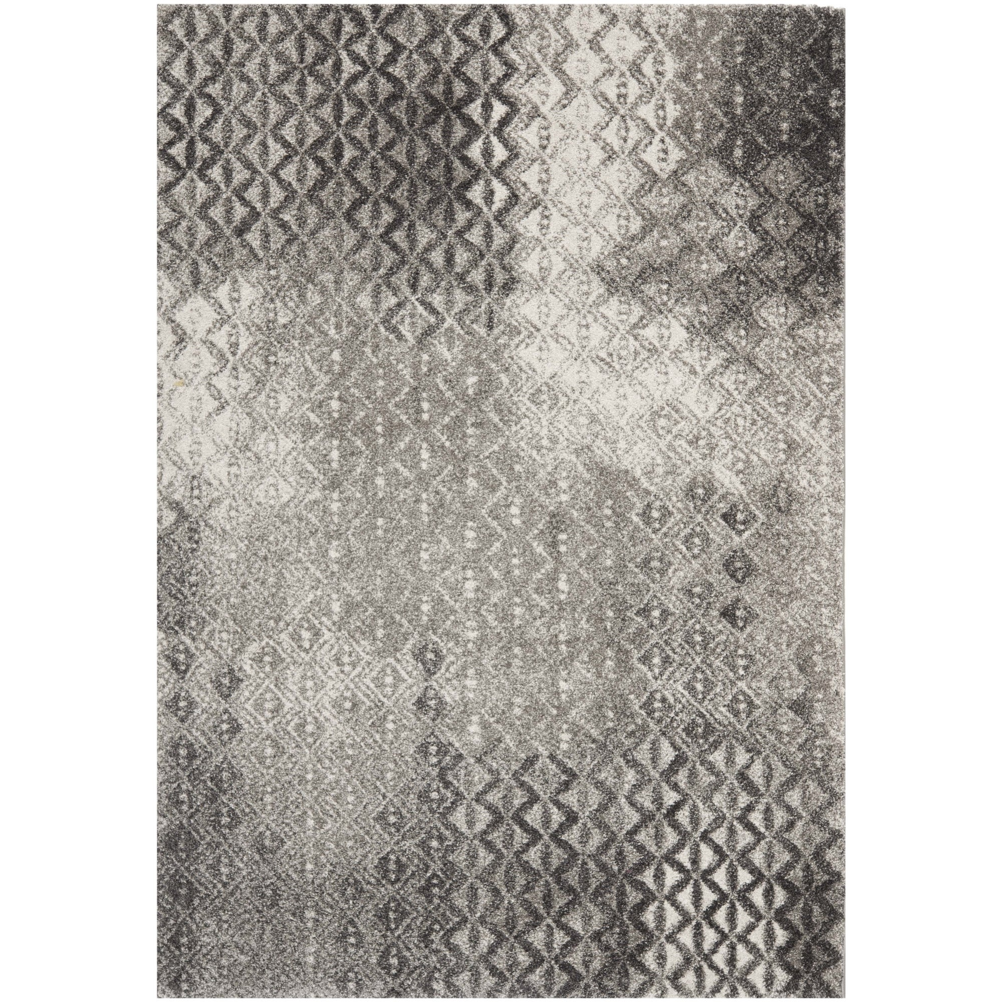 "Safavieh Porcello Contemporary Gray/Black Rug (8' x 11'2"") at Sears.com"