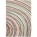 Desaturated Concentric Safavieh Porcello Ivory Rug (4' x 5' 7)