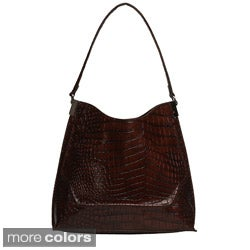 Mondani 'Palmer' Croc-embossed Hobo Bag