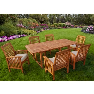 Wood 7-piece Patio Dining Set