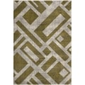 Brown Rectangles Safavieh Porcello Ivory Rug (4' x 5' 7)