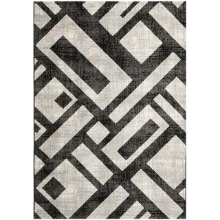 Safavieh Porcello Black Rug (4' x 5' 7)