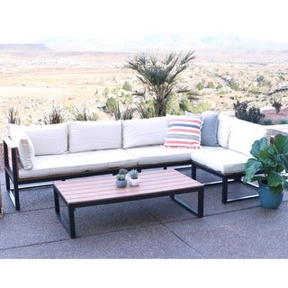 All-Weather 4-piece Patio Conversation Set with Cushions