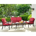 Cast Aluminum 4-piece Conversation Set with Cushions
